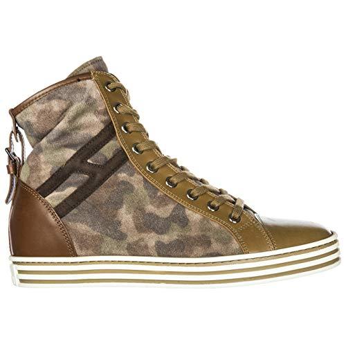 Hogan Rebel Sneakers Alte R182 Donna Marrone 36 EU 39525446eb6