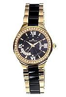 Stella Maris STM15Y8- Reloj pulsera analógico de cuarzo para mujer (con diamantes), correa de cerámica Blanco de Stella Maris