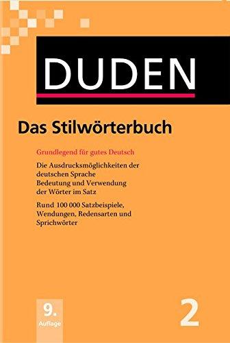 Der Duden in 12 Banden: 2 - Das Stilworterbuch: Grundlegend für gutes Deutsch. Mehr als 100.000 Satzbeispiele, Wendungen, Redensarten und Sprichwörter. (Duden Series : Volume 2) por Richard Wright