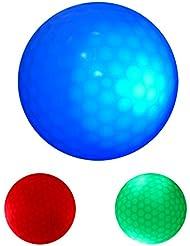 Gazechimp 3 Pedazos Resplandor Luz Oscura LED Bola de Golf Multicolor Deportes