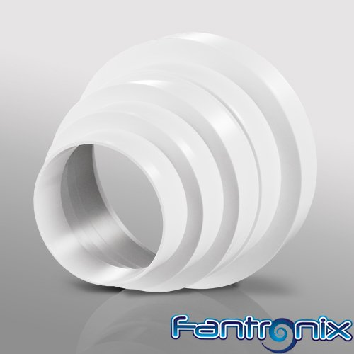 5125mm Plastic Ducting and Fittings (80mm) by Fantronix Cone Reducer 150mm