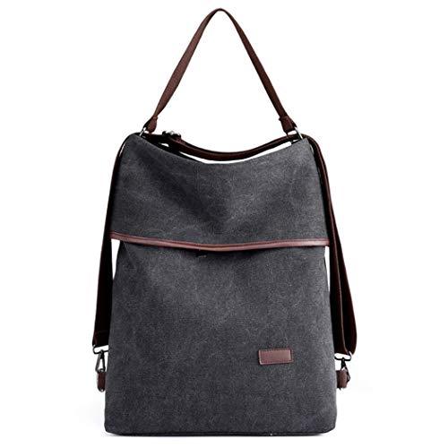 Damen Schultertasche, COOFIT Canvas Tasche Damen Handtasche Vintage Rucksack Umhängentasche Anti Diebstahl Tasche für Alltag Büro Schule Ausflug Einkauf (Handtasche Rucksack Vintage)