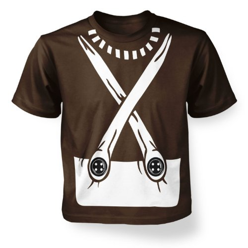 Kids Clothing By Big Mouth  Jungen Blusen T-Shirt Gr. 3-4 Jahre, Braun - Dark chocolate Oompa Loompa-shirts