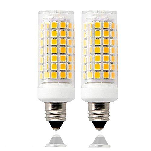 E11 LED-Leuchtmittel, 90 LEDs, E11, 8 W, entspricht 75 W-100 W, 850 Lumen, Mini-Kandelabra-Sockel, 110-130 V, Warmweiß 3000 K, ersetzt T4/T3 JD Typ Clear E11 Glühbirne, 2 Stück LED-Lampe warmweiß -