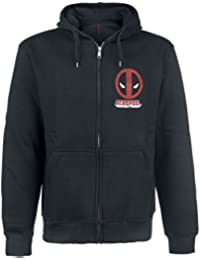 Deadpool Logo Sudadera capucha con cremallera Negro