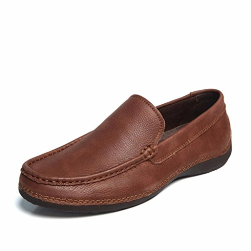 moonwalker-mens-full-grain-leather-slip-on-loafers-9-uk-43-eurdark-brown