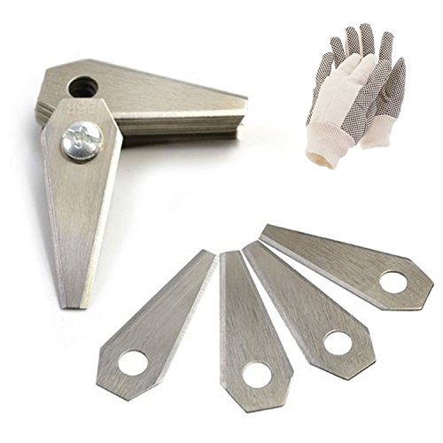 18 Edelstahl Ersatzmesser für Mähroboter | 1 mm | inkl. GRATIS Handschuhe | Bosch Indego | Rasenmäher Messer