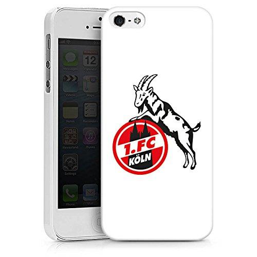 Apple iPhone X Silikon Hülle Case Schutzhülle 1. FC Köln Fanartikel Fußball Hard Case weiß