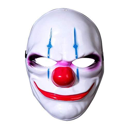 Scary Kostüm Männer Clown - ZLALF Halloween Party Maske Clown Lustige Horror Maske Männer Und Frauen Kostüm Maske Cosplay Scary Resin Realistische Prop Party Gesichtsmaske,B