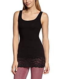 ONLY Damen Top 15072354/LIVE LOVE LONG LACE TANK NOOS