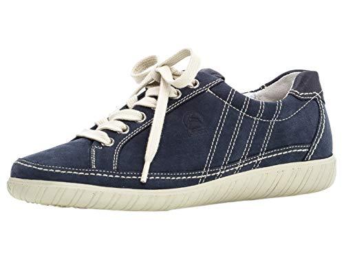 Gabor Damen Low-Top Sneaker 26.458.46, Frauen Halbschuh,Schnürschuh,Strassenschuh,Business,Freizeit,Navy/Ocean,39 EU / 6 UK