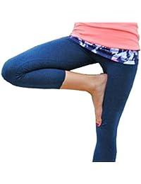 Mesdames coton stretch uni 3/4 en culture genou leggings-couleurs et tailles(ladies 3/4 cotton leggings)Ref:2191