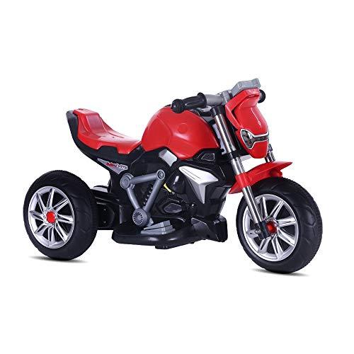 MEILA Kind Auto Elektro-Motorrad Dreirad Kinderwagen 1-3-5 Jahre alt Spielzeug kann sitzen Warenkorb Aufladen Motorrad Motorrad Elektroroller Fahrrad Trike (Color : Red) - Alt Für Fünf Puppen Jahr