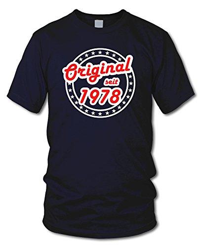 shirtloge - ORIGINAL SEIT 1978 - KULT - Geburtstags T-Shirt - in verschiedenen Farben & Größen Navy