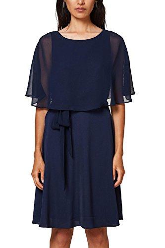 ESPRIT Collection Damen 028EO1E032 Partykleid, Blau (Navy 400), 40