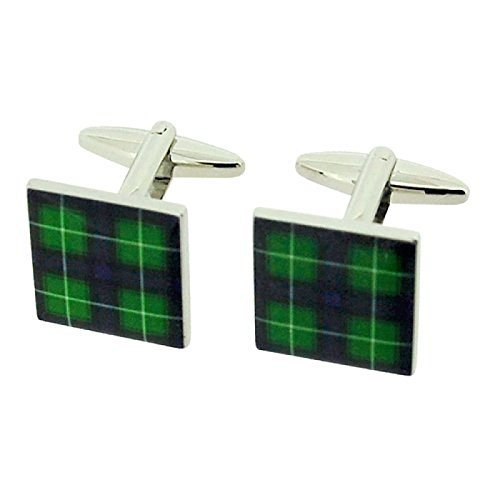jakob-strauss-gents-silvertone-scottish-mcdonald-green-tartan-square-cufflinks