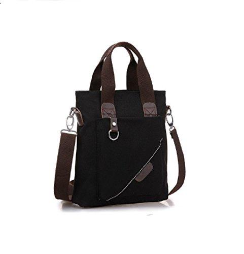 ADOO Vintage Top Qualität Unisex Umhänge Tasche Canvas Einkaufstasche Mesenger Bag Farbwahl Blau