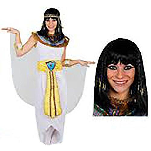 KÖNIGIN DES NIL ÄGYPTEN PHARAONIN KOSTÜM MIT PERÜCKE =VON ILOVEFANCYDRESS®=, KLEOPATRA VERKLEIDUNG ERHALTBAR IN 5 GRÖßEN =TOLL FÜR JEDE CÄSAR ODER GÖTTIN DES NILS KOSTÜMIERUNG AN FASCHING UND KARNEVAL=KOSTÜM IN (Perücke Caesar Kostüme Erwachsene)