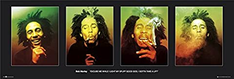 GB Eye Ltd DP0274 Türposter Bob Marley, Excuse Me, 53 x 158 cm