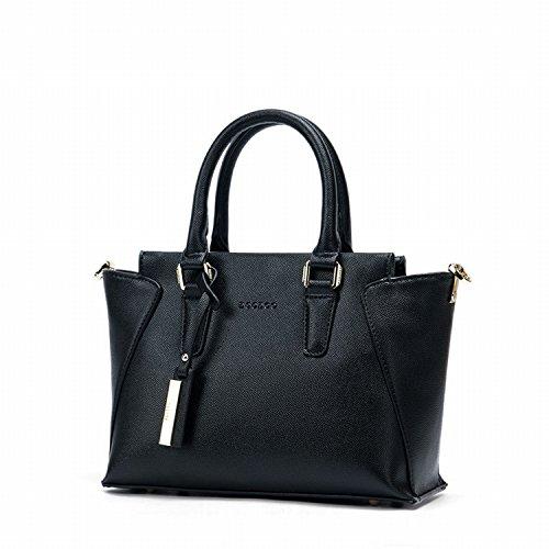Handtasche Damen Tasche Einfache Schulter Messenger Tasche Flügel Tasche Schwarz