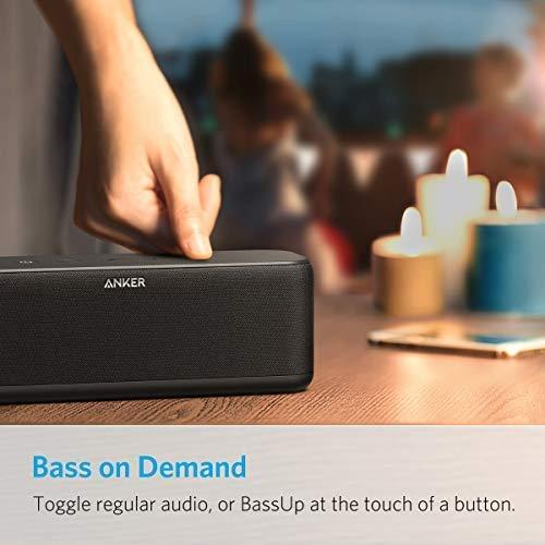 Anker A3145011 -  Altavoz Bluetooth SoundCore Boost 20 W con tecnología de BassUp,  Resistente al agua IPX5,  20 m de alcance,  Negro