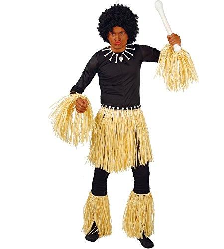 FIESTAS GUIRCA Establecer Pulseras y Tobilleras con Falda caníbal para el Disfraz indígena zulú