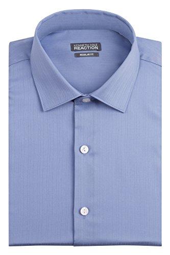 kenneth-cole-mens-textured-regular-fit-solid-spread-collar-dress-shirt-blue-17-neck-32-33-sleeve