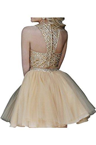 Prom Style Damen Prinzessin Tuell Abendkleider Ballkleider Cocktailkleider Partykleider Tanzenkleider Abschlussballkleider Kurz mit Applikation Jaegergruen