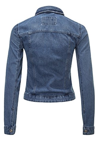 ONLY Damen Jeansjacke Übergangsjacke Denim Jacke Blouson (XS, Medium Blue Denim) - 2