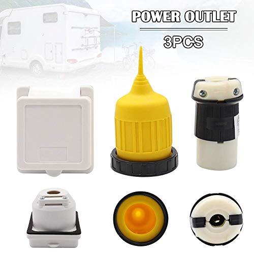 Cutito 30 Amp Rv Anhänger Marine Stromkabel Power Einlass Buchse Twist Verriegelung Anschluss Wasserdichte Kofferraum Set -