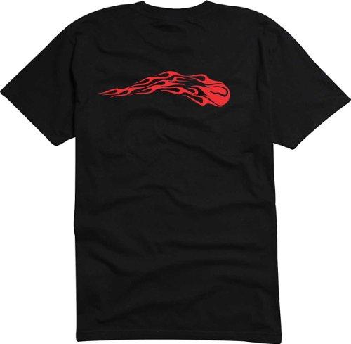 T-Shirt Herren Tribal-feuer Fliege Schwarz