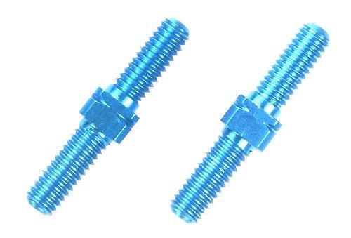Tamiya 300054247 - Alu Li/Re-Gewindestangen 2, 3 x 18 mm, blau