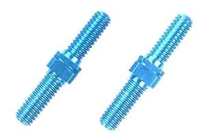 Tamiya 300054247-Aluminio Li/RE de Rosca Barras 2, 3x 18mm, Color Azul