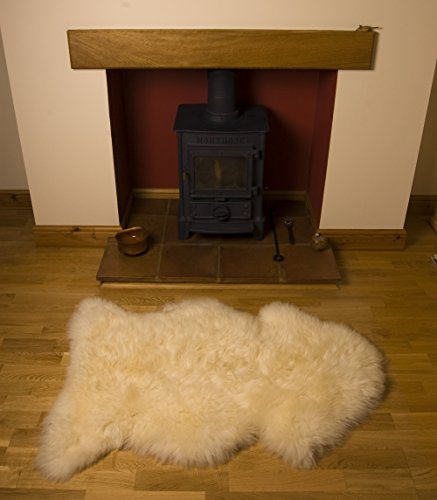 Nordvek 100% Genuine Premium Quality Natural Sheepskin Rug Full Pelt - Various Sizes Available # 601-100 - Natural, XL