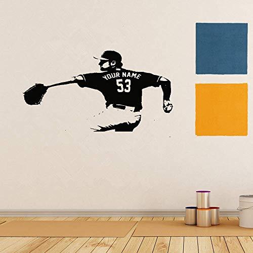 Mond-baseball-jersey (Wandaufkleber Kinderzimmer Wandtattoo Schlafzimmer Benutzerdefinierte Name Jersey Zahlen Baseball Schlafzimmer für Kinderzimmer Wohnzimmer Wohnkultur)