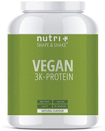 r Neutral ohne Süßstoff | 85,8% Eiweiß | 1kg | Nutri-Plus Shape & Shake Vegan | Proteinpulver | auch zum Kochen und Backen ()