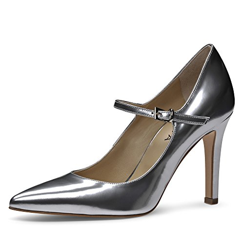 ILARIA Damen Pumps Brushleder Silber