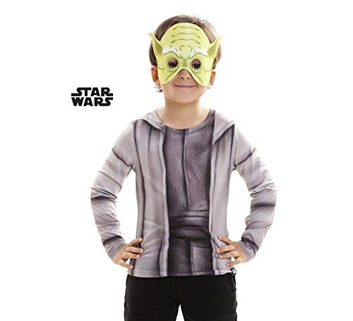 Shirt Yoda Kostüm - viving Kostüme viving costumes231046Yoda Jungen, Long Sleeve T-Shirt (8-10Jahre, One Size)
