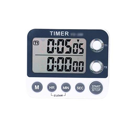 Hujindong Timer Timer Küche Back-Timer Lauter Ton Erinnerung Stumm Multifunktions-Countdown-Flash-Speicher, grau Kitchen Timer (Color : Gray)