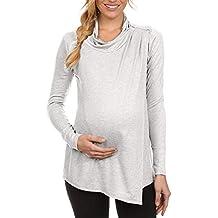 Camisetas Maternidad Enfermería Sujetadores Lactancia Manga Largas Primavera,PAOLIAN Ropa Sudaderas Si Capucha Embarazadas Premamá