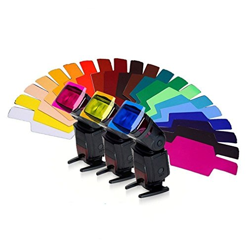 Yinew 20Strobist Flash Farbe Beleuchtung Gel Pop-up Blitz-Diffusor Soft Box Filter Diffusor Gel Farbe Karte für Flash Speedlite