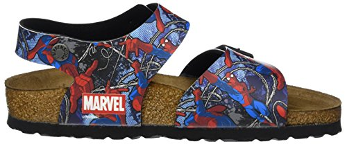 Birkenstock New York, Bride cheville garçon Mehrfarbig (Spiderman Action Blue)