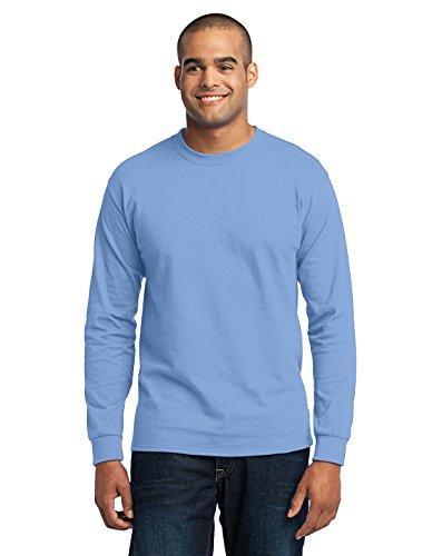 Port & Company hoch Lange Ärmel 50/50Baumwolle/Poly T-Shirt pc55lst Gr. X-Large, hellblau (Poly-baumwolle-shirt Ärmeln)