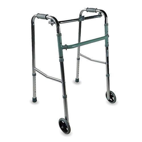 Andador adultos | Aluminio | Plegable | 2 ruedas |