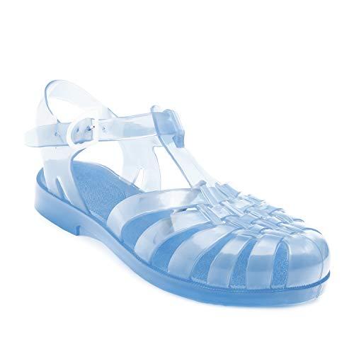 Andres Machado-am188-Sandali di Plastica Trasparente, Trasparente (Trasparente), EU 36