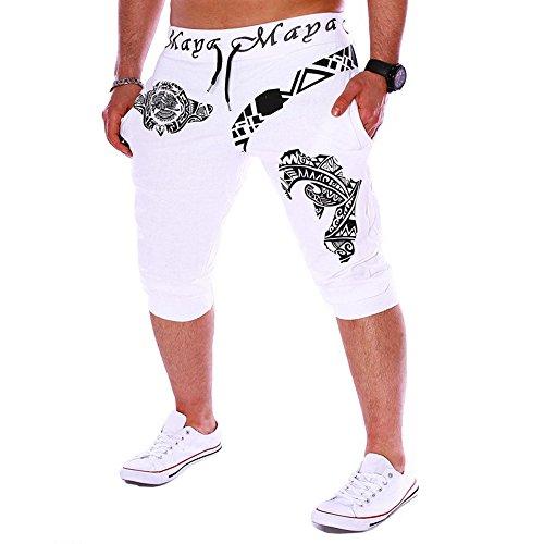 R-Cors Leinenhosen für Männer Strandhose aus Leinen und Baumwolle, Lange & Kurze Hosen Tunnelzug elastische Taille Druck lose Sporthosen, Lässige Freizeithose mit Seitentaschen (Männer True Religion Jeans 32)