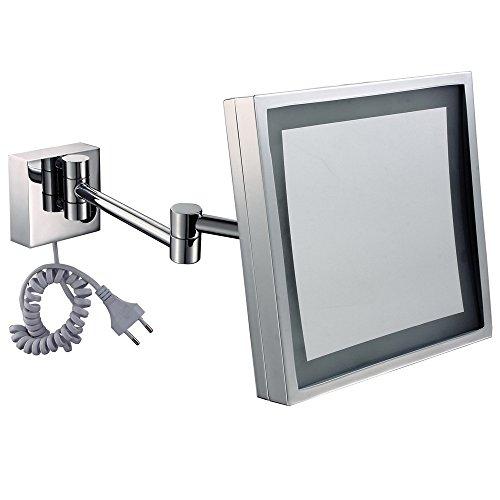 SYW Platz beim make - up - Spiegel führten Spiegel im badezimmer chrom MIT Lampe schönheit eine verspiegelte Wand hängen Spiegel Lupe 9 - Zoll - rasur