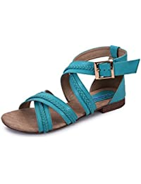 Meriggiare Women Synthetic Blue Flats