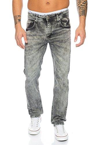 Rock Creek Herren Jeans Grau LL-312 [W36 L36] (Jeans Langer Rock)