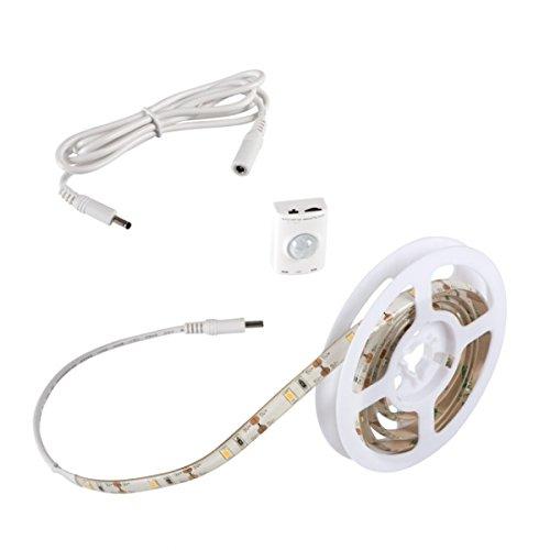 LED Stripe 1m Set mit Sensor Bewegungsmelder und AKKU - Stripes Lichterkette Band Streifen Leiste Lichtleiste Bänder